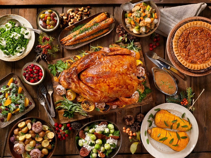 Maple Glazed Turkey Dinner
